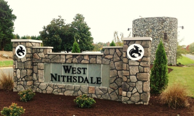 Entrance to West Nithsdale neighborhood in Salisbury MD