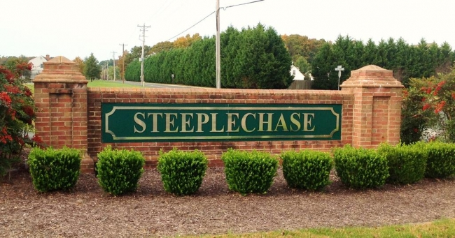 Steeplechase neighborhood entrance in Salisbury Maryland