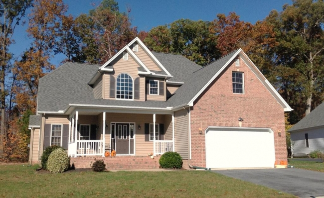 Brick Colonial home in Salisbury Maryland's Sleepy Hollow neighborhood