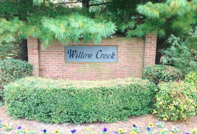 Entrance to Willow Creek neighborhood in Salisbury MD