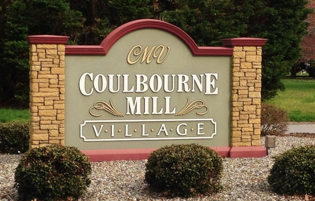 Entrance to Coulbourne Mill Village in Salisbury MD