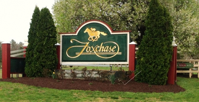 South entrance to the Foxchase community in Salisbury Maryland
