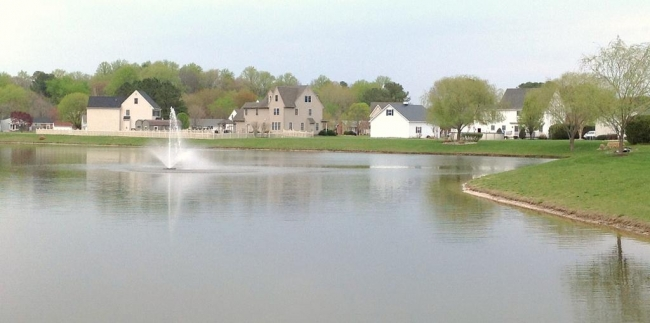 Community lake at Heather Glen in Salisbury MD