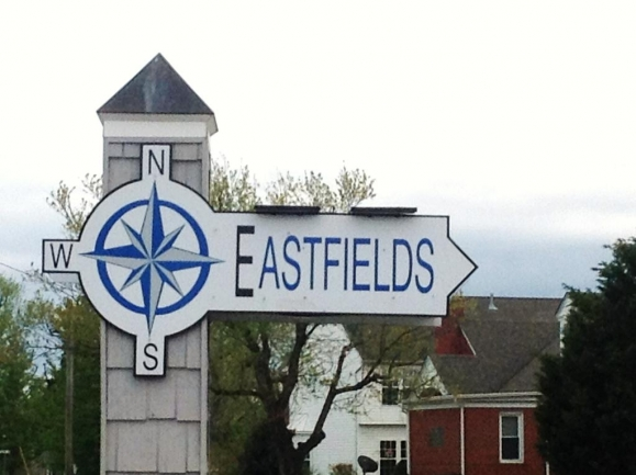 Entrance to the Eastfield neighborhood in Fruitland Maryland