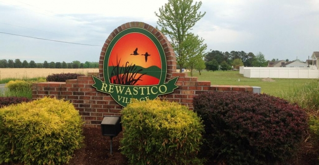 Entrance to the Rewastico Village neighborhood in Hebron MD