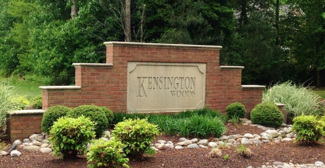 Entrance to Kensington Woods in Salisbury Maryland