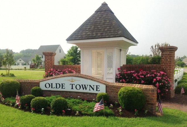 Entrance to Olde Towne in Salisbury Maryland