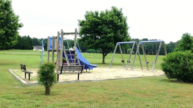 Community playground at Misty Creek in Hebron MD