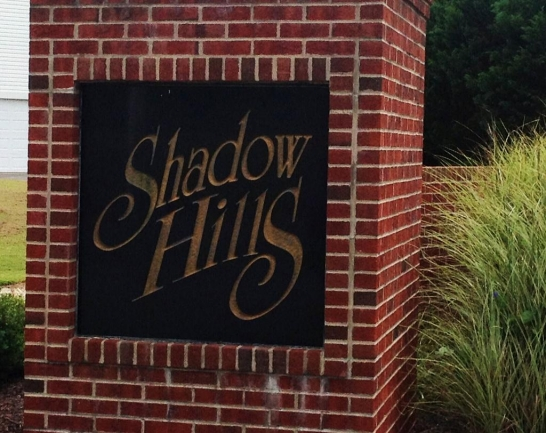 Entrance to the Shadow Hills community in Delmar MD