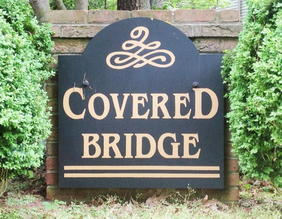 Entrance to the Covered Bridge Estates neighborhood in Fruitland MD